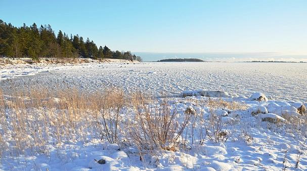 Vaade Aegna-Kräsuli-Viimsi poolsaare vahelise merealale seisuga 21.01.2014