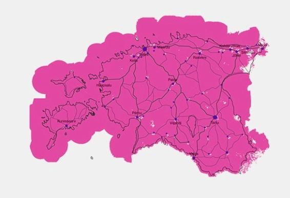 Telia 4G leviala kaart